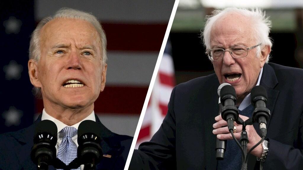 Joe Biden en Bernie Sanders.