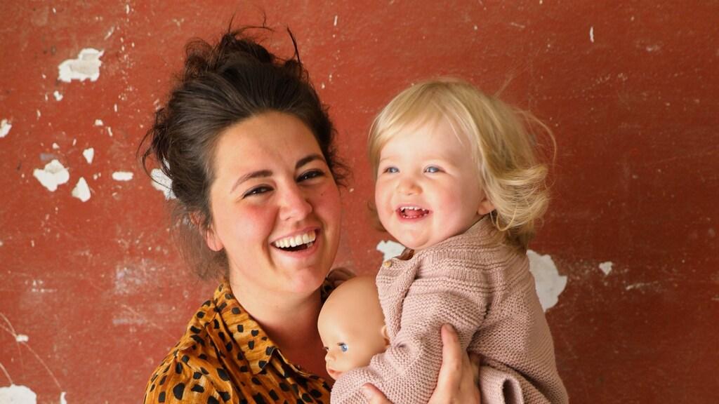 Jesje Veling en dochter Teddie