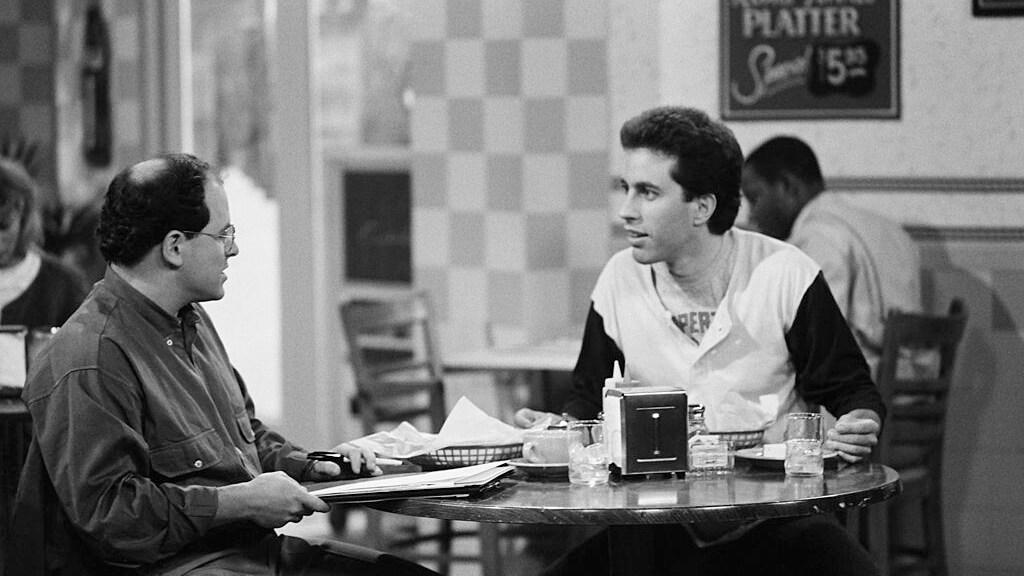 Jason Alexander en Jerry Seinfeld in de pilot van wat toen nog 'The Seinfeld Chronicles' heette (1989)