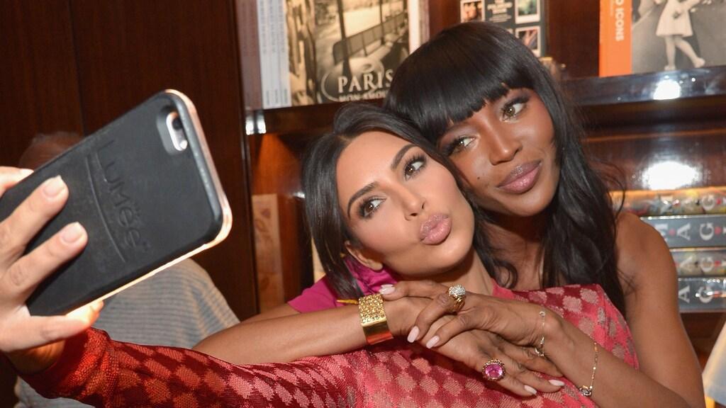 Kim Kardashian en Naomi Campbell