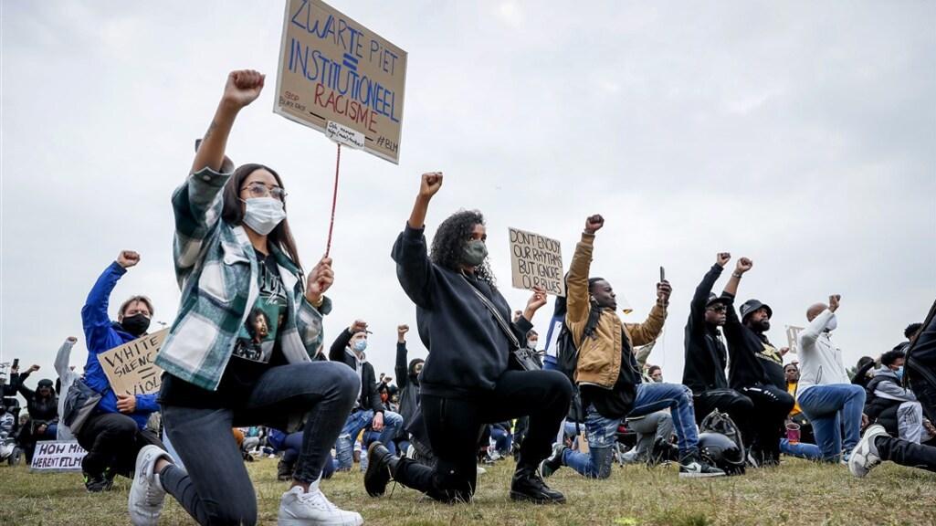 Het protest in Bijlmer.