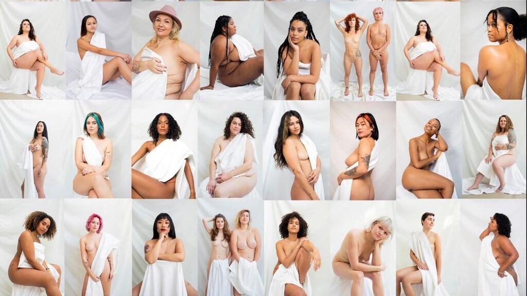 35 vrouwen poseerden van de week naakt om aandacht te vragen voor Yulia.