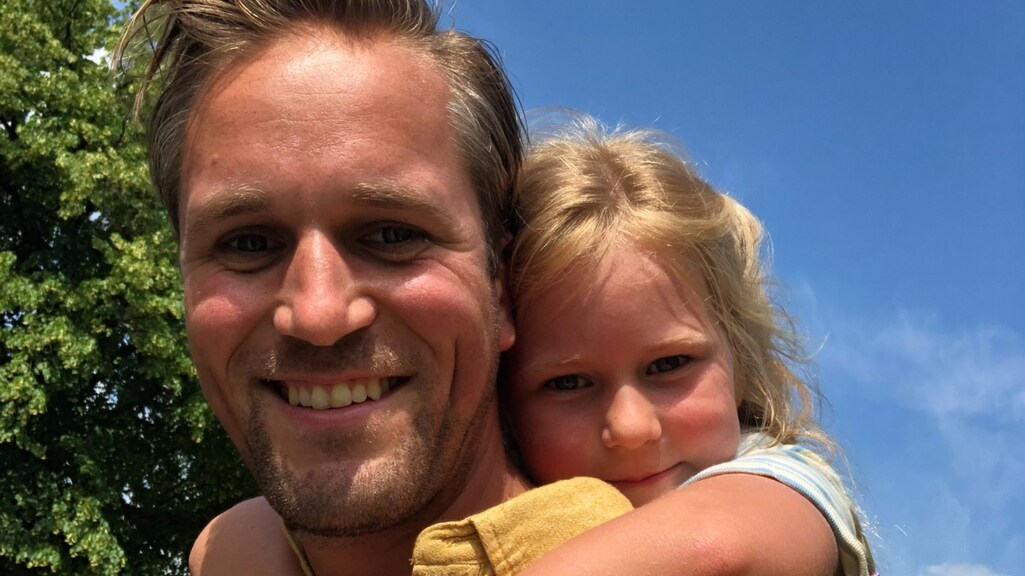Lykele Muus met dochter Nine