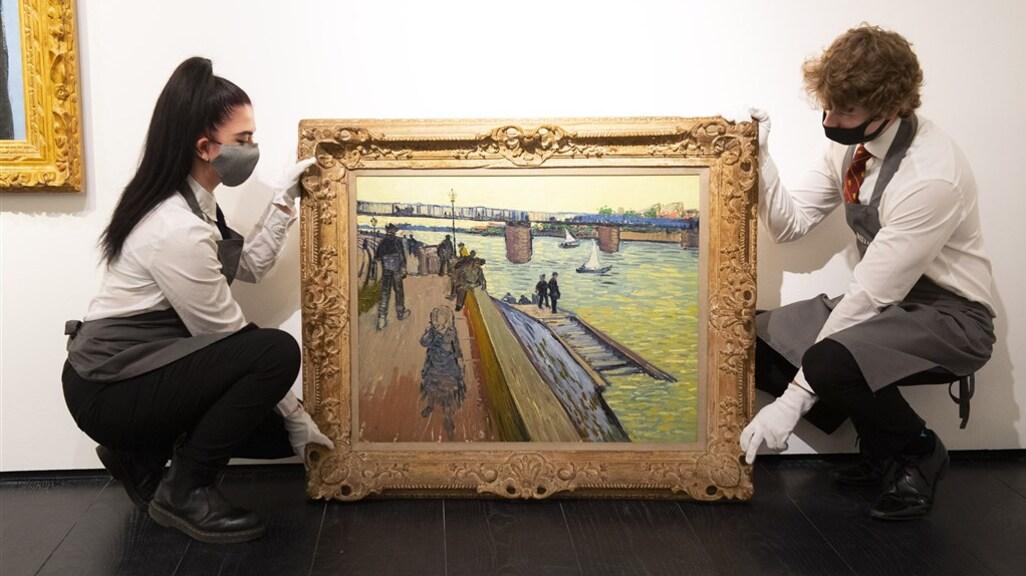 De brug van Trinquetaille van Vincent van Gogh.