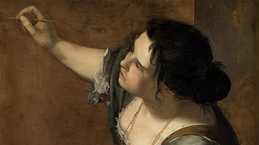 Artemisia Gentileschi, Zelfportret als de allegorie van de schilderkunst, ca. 1638-39