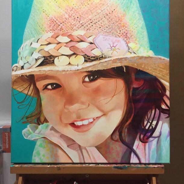 Portret van een meisje door Zoë Donker