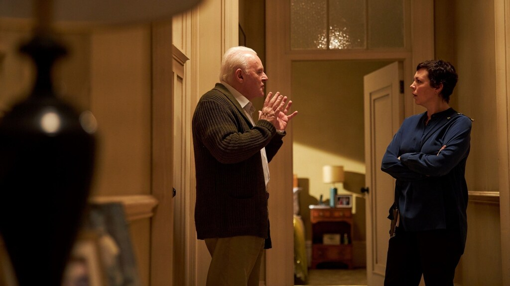 Anthony Hopkins en Olivia Colman in The Father