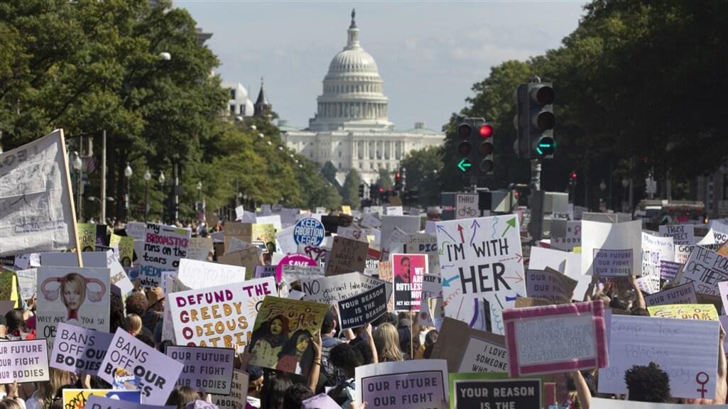 Demonstranten in de Amerikaanse hoofdstad Washington