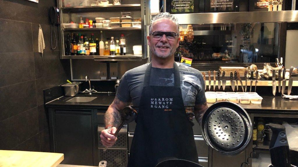 Chef-kok Edwin Vinke.