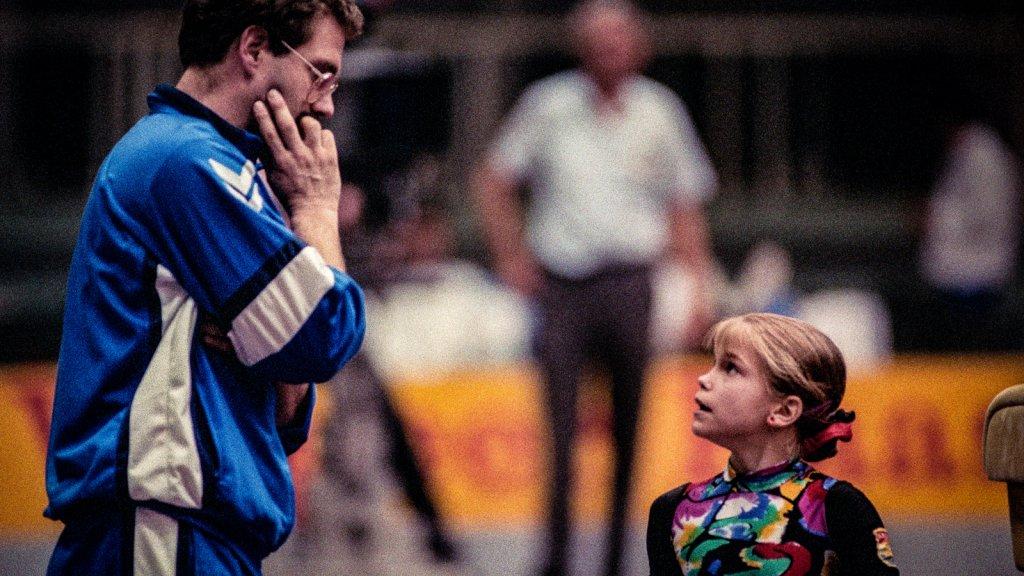 Gerrit Beltman met talent Stasja Köhler in 1991.