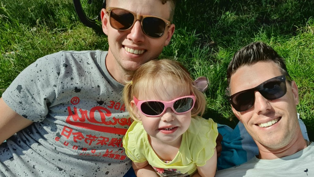 Dennis en Lody met hun dochter Skye