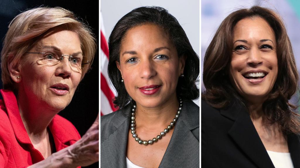 Elizabeth Warren, Susan Rice en Kamala Harris