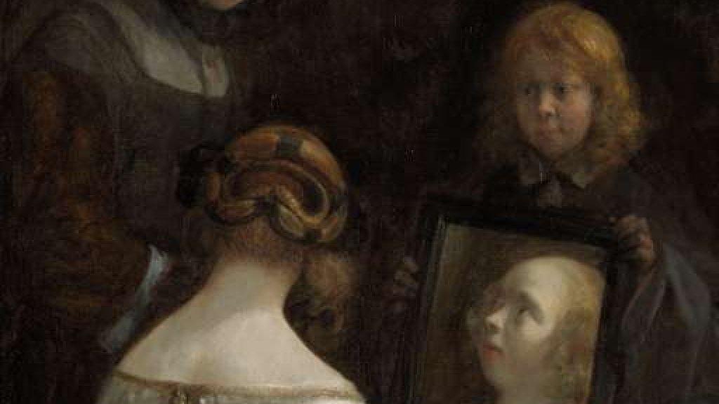 Meisje voor de spiegel ca. 1652