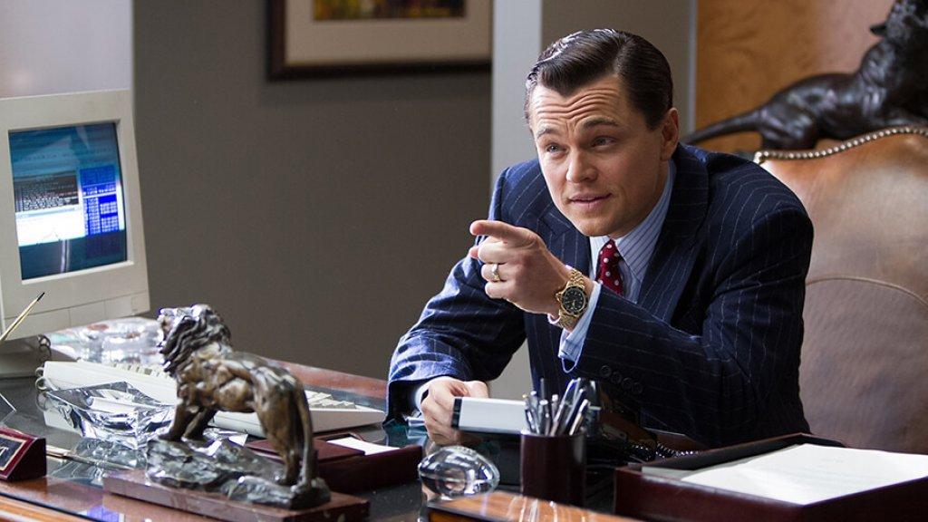 Leonardo DiCaprio als Jordan Belfort in The wolf of Wall Street (2013)
