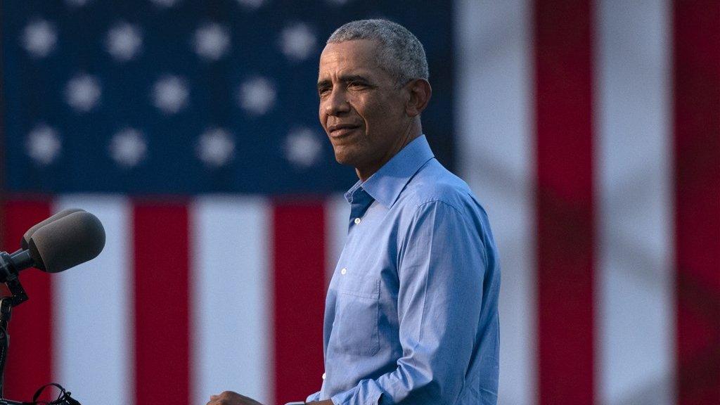 Obama tijdens zijn speech in Philadelphia.