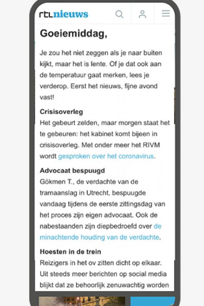 RTL Nieuws aanmelden nieuwsbrief